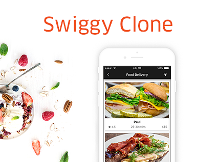 swiggy food delivery app clone development