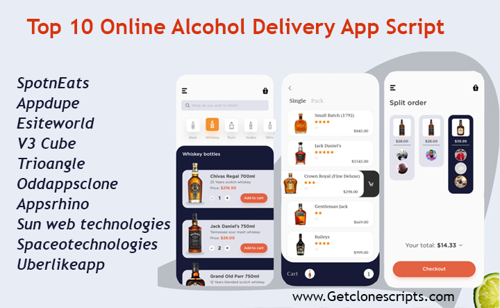 Alcohol Delivery App Scripts